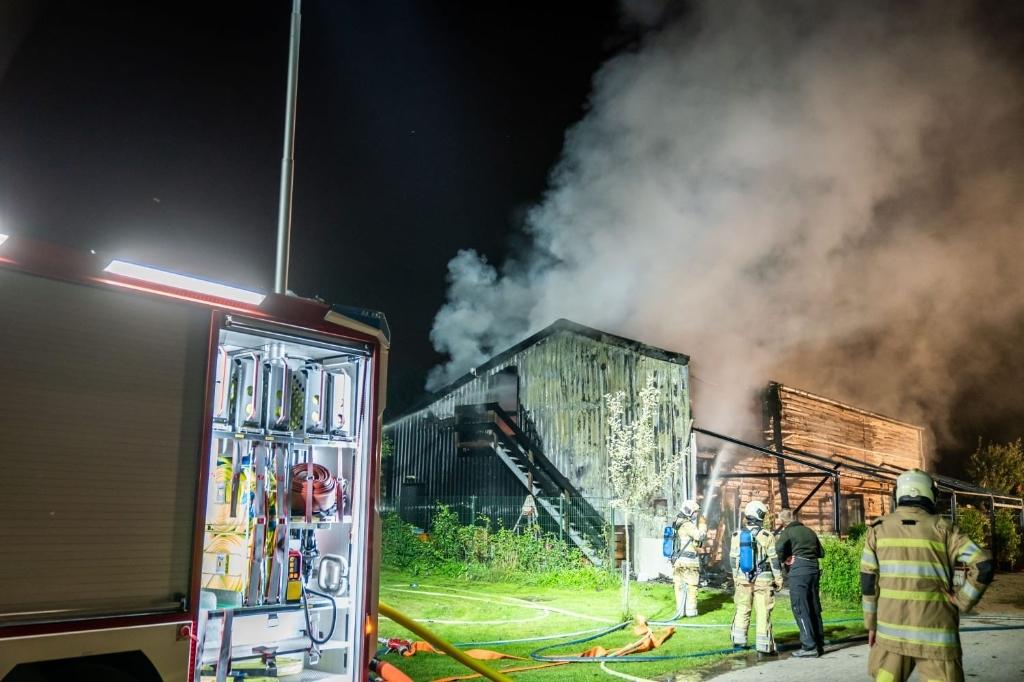 Brand op Camping de Boomgaard Koen Laureij © BDU media