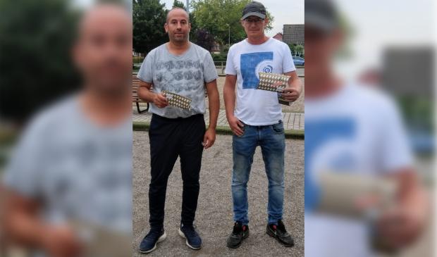 <p>Mohammedi Jadoun en rechts Sebastiaan Diemel.</p>