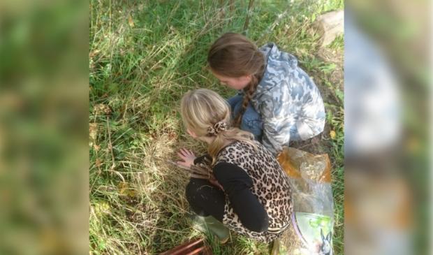 Kinderen zorgen voor de dieren in de kriebelbeestjestuin