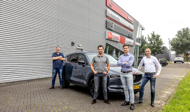 <p>Andr&eacute; Braber, Kevin van Aggelen, Gosse van Veldhuizen en Erik Dekker (van links naar rechts).</p>