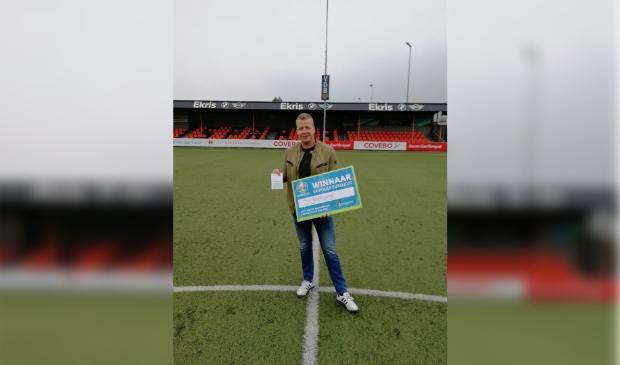 Gijs Wiesenekker van Signploeg wint EK pool Businessclub Sparta Nijkerk.