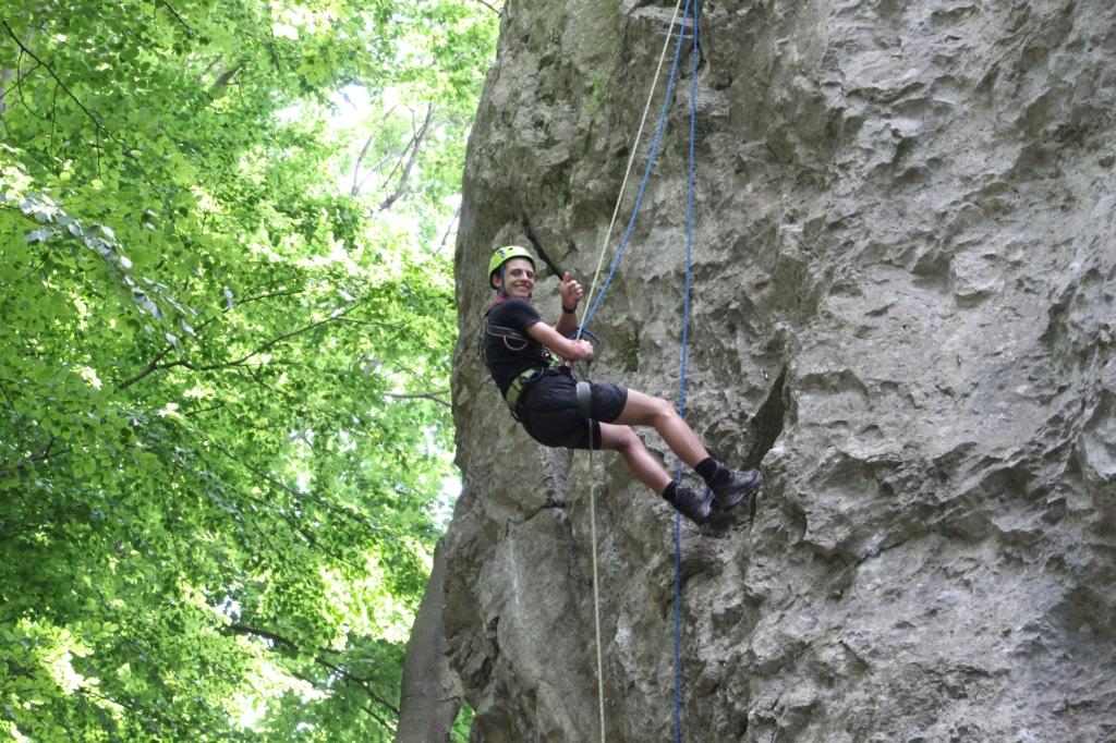 Abseilen zomerkamp explorers Scouting Hiawatha © BDU Media