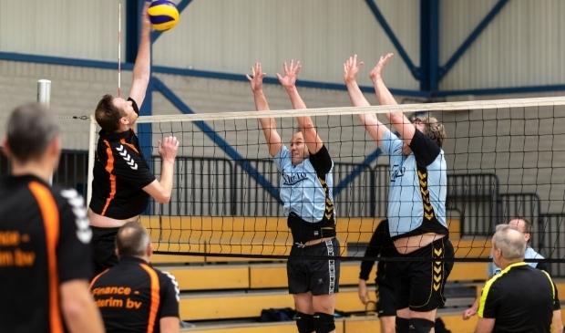 Volleyballers in actie