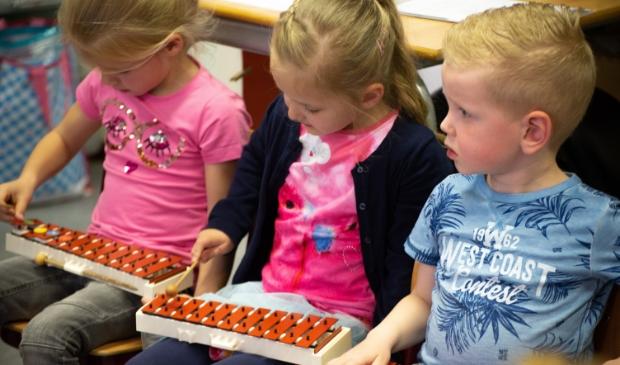 Bij Muziekschool Barneveld kunnen jonge kinderen spelenderwijs kennismaken met muziek.