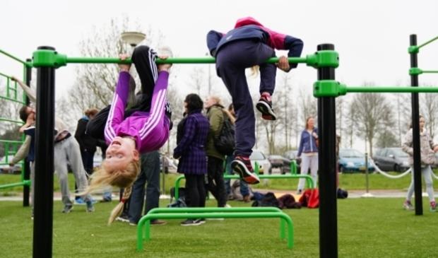 <p>Buitensportpark in Ouderkerk bij de feestelijke opening in 2019.</p>