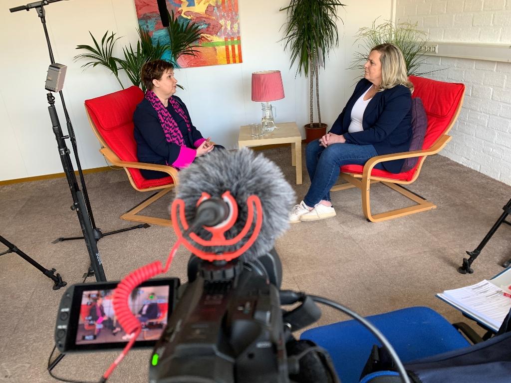 Studio interview Chantal Broekhuis @Regio90 © BDU