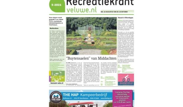 de papieren Recreatiekrant Veluwe is weer uit
