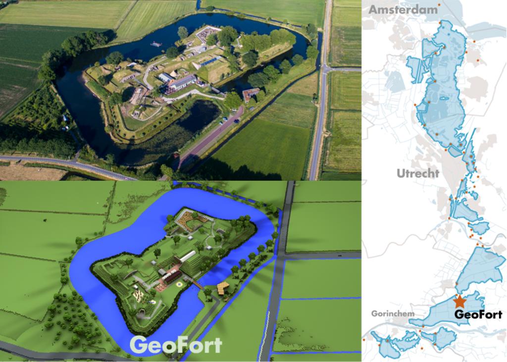 Het echte Geofort en de versie in Minecraft Geofort © BDU media
