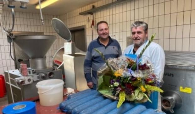 <p>Maar liefst 49 jaar van zijn leven was Jaap Mosterd in dienst bij Slagerij Tomassen. </p>