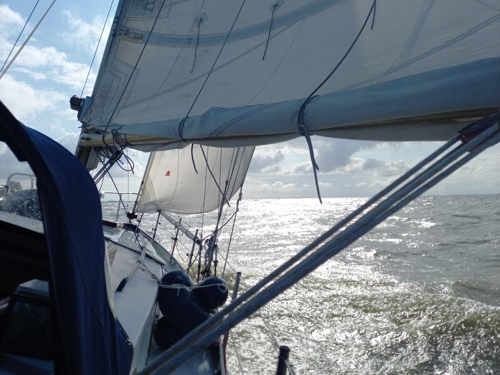 Onderweg van Enkhuizen naar Urk op het IJsselmeer met zeilboot 'Saudade'. Inge Trommel © BDU Media