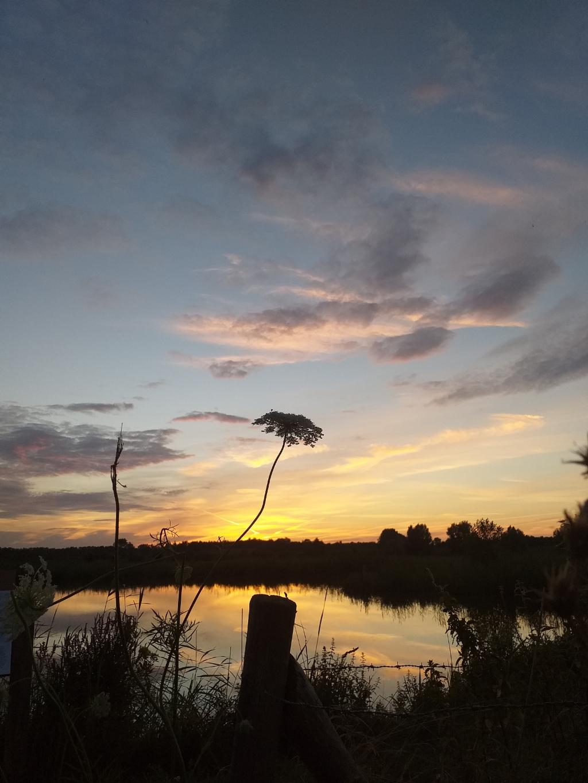 """,,De mooiste dingen zijn niet te koop! Genoten van een prachtige zonsondergang in de Amerongse bovenpolder."""" Marieke Dorrestijn © BDU"""