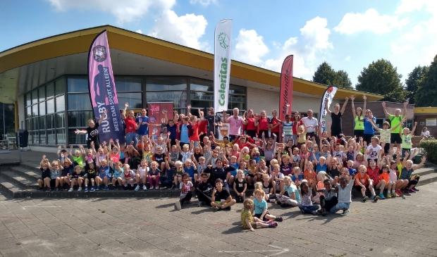 Zo'n 120 kinderen uit Odijk, Bunnik en Werkhoven deden woensdagochtend mee aan de Bunnikse Spelen van Bunnik Beweegt.