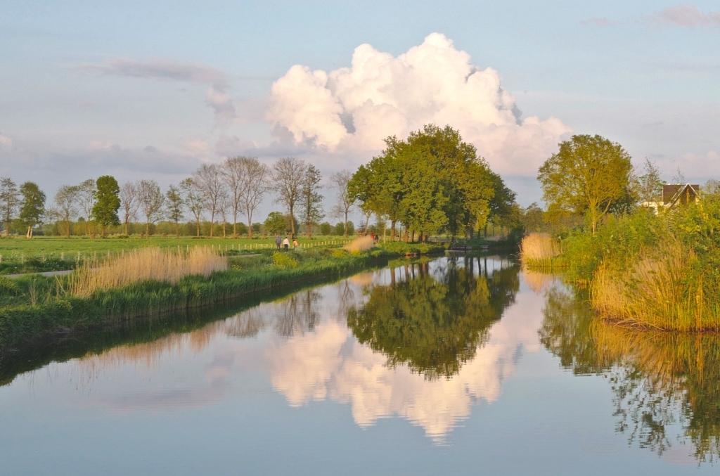 De foto is dit jaar gemaakt op een mooie zomeravond - vanaf een brug over het Valleikanaal. De vormen van de wolken en de bomengroep: ze zijn bijna hetzelfde. En dat samenspel wordt nog eens verdubbeld door de weerspiegeling in het kanaal. Winfried Wüstefeld © BDU media