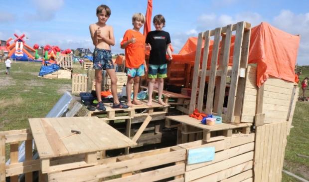 <p>De Hollandse Hut, gebouwd door Charlie, Daaf en Kai.</p>