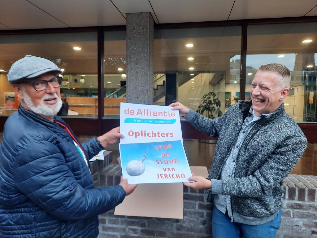 Demonstranten in actie.  Jeroen de Valk © BDU media