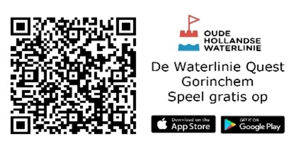 Scan de qr-code en speel de Wandelgame Oude Hollandse Waterlinie © BDU Media