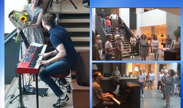 gospelkoor Candela repeteert o.l.v. nieuwe dirigent Dennis de Bruijn