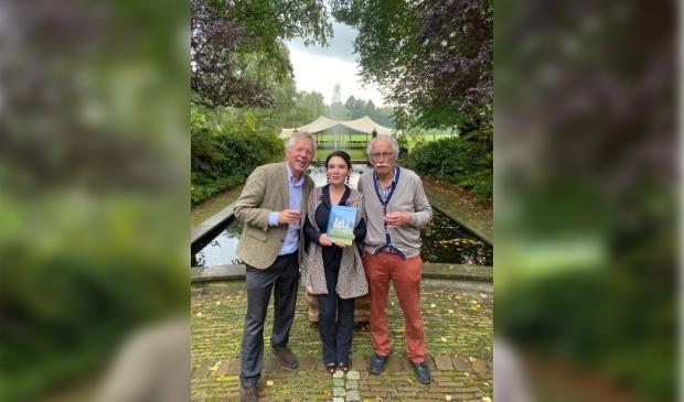 Diederik Six, Tania Ravelli en Teun Bleijenberg op buitenplaats Doornveld