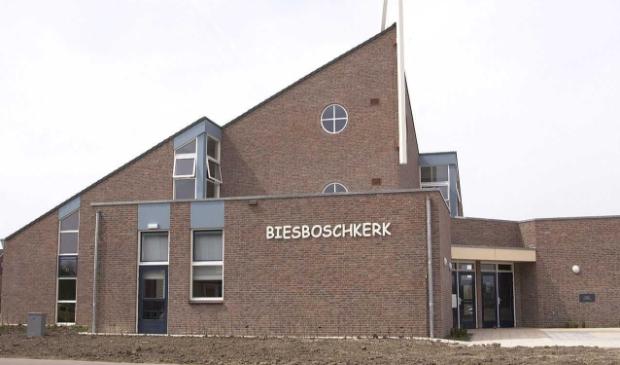 De jeugddienst wordt gehouden in de Biesboschkerk