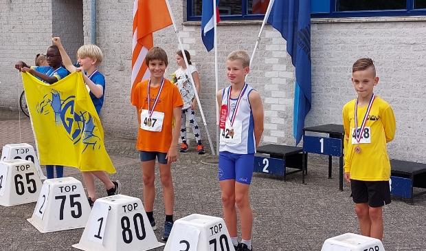 Eneas Verbakel op de 3e plaats bij de A1 pupillen atletiek