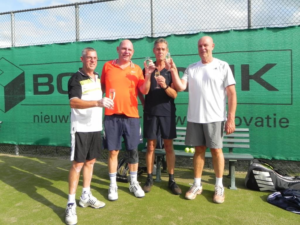 De finalisten van HD 5/6: Gijs Middelweerd/Paul Verweij en Bert Odijk/Pierre van Zuilen. Richard Thoolen © BDU media