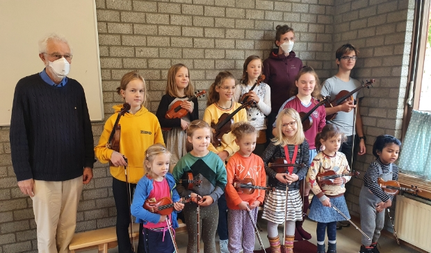 leerlingen van vioolleraar Johannes Lievaart