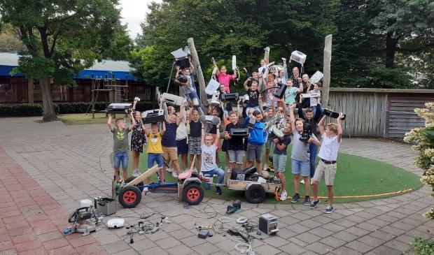 Enthousiaste leerlingen doen mee aan de ewasterace