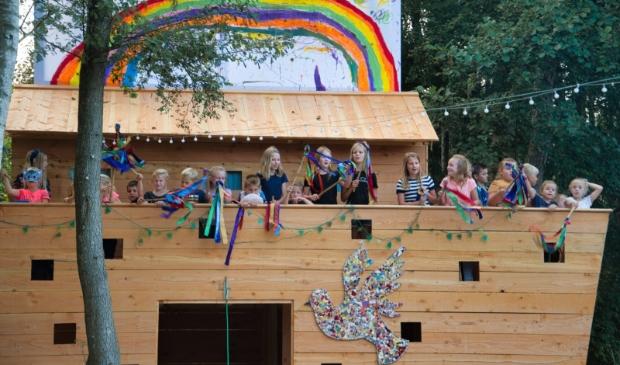 Kinderen nog een keer het lied Ballonnenlied, Onze lofprijs stijgt omhoog!