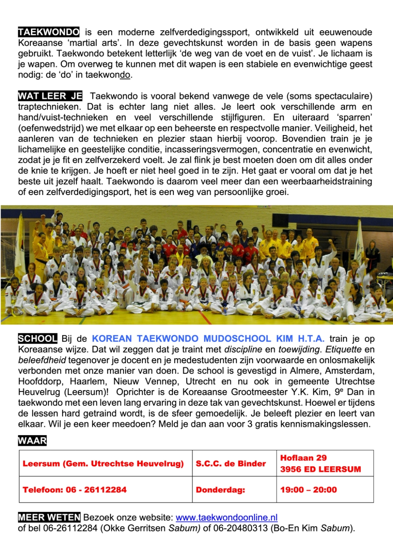 Flyer w.H.T.A. Taekwondo (achterkant) w.H.T.A. © BDU