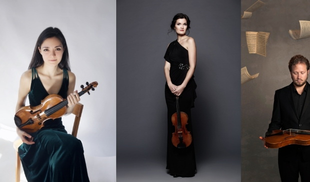 <p>Violisten Rada en Rossi Ovtcharova en altviolist Emlyn Stam spelen op 2 oktober &#39;Trio Le Londers&#39; van Ysaye. </p>