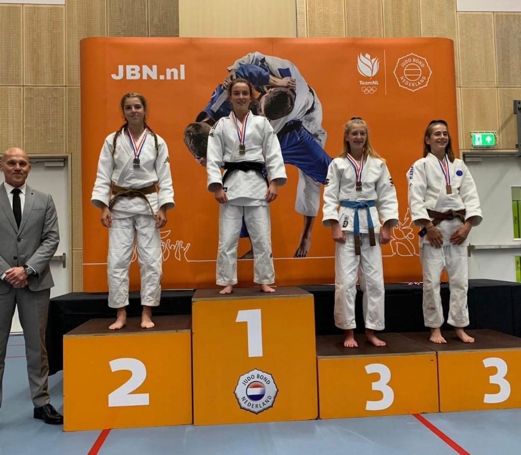 Judoka Vera Wandel kampioene van Nederland Wandel © BDU media