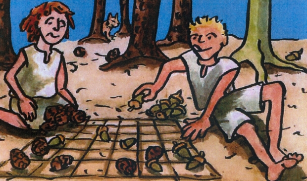 Spelen met bosmateriaal
