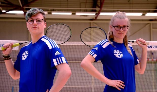 badmintonners bij Van Zijderveld