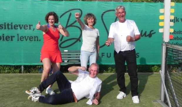 <p>Joke, Moniek, Jan en Willem hebben er als AC alles aan gedaan om van GTST een succes te maken. Ontbreekt op de foto: Joyce. </p>