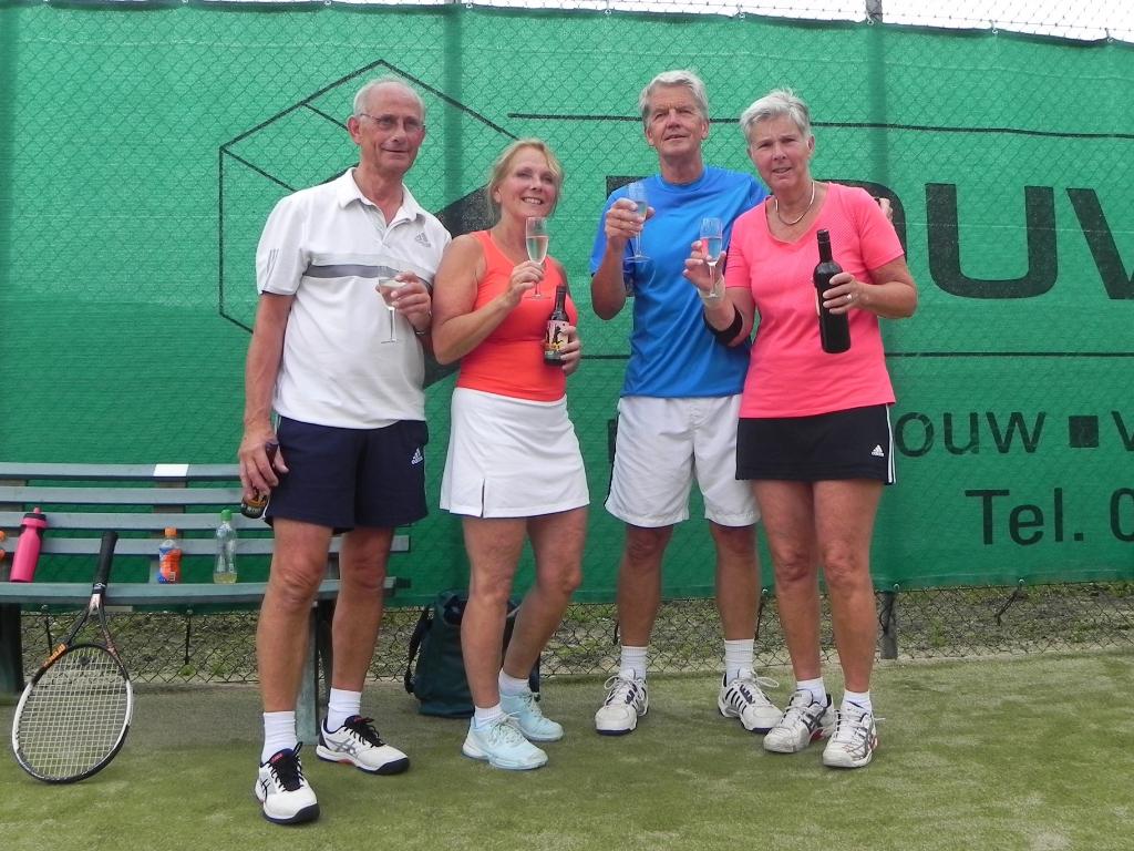De finalisten van GD 7 : Joop Middelweerd/Pauline Kints en Herman Bonnes/Ellen Bonnes.  © BDU media
