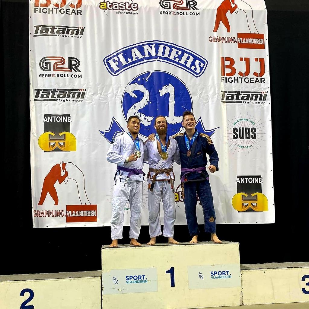 Tjafse van den Brink brons Flanders Cup 2021 Sportschool Herbert © BDU Media