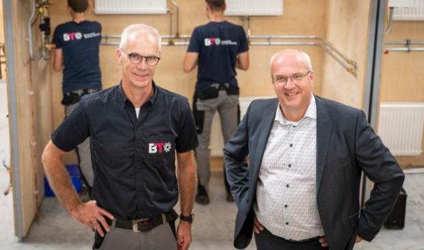 <p>Patrick van der Pijl (links) en Arjan de Jager van BTO: ,,Er is voor iedereen een toekomst in de techniek.&#39;&#39;</p>