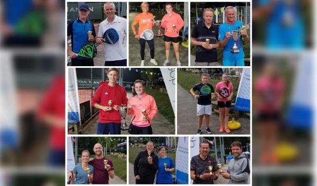 Collage van de padelkampioenen van Keltenwoud