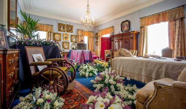 De sterfkamer van Auguste Victoria in Huis Doorn.