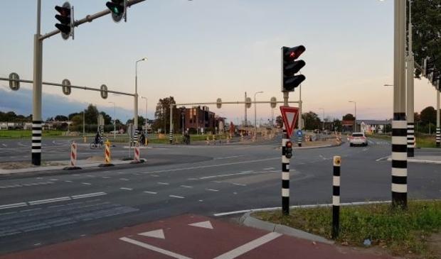 <p>De kruising Oranjebaan/Amstelslag..</p>