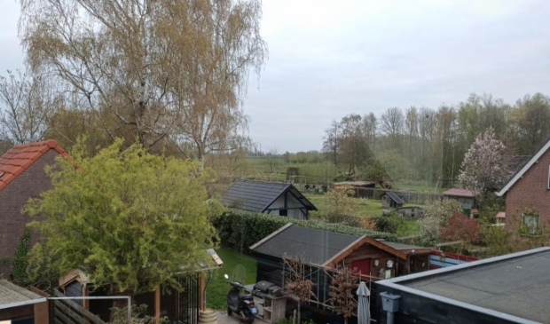 Uitzicht vanaf ons huis