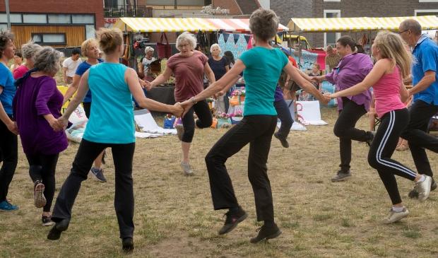 Dansen op het stadsstrand