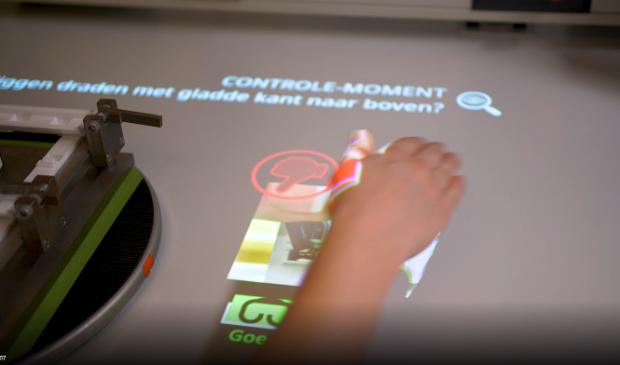 De beamertechnologie die in samenwerking met TNO is ontwikkeld