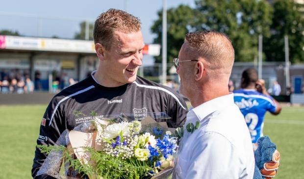 """,,Ik had liever punten dan bloemen gehad"""" , verzekerde Johan Jansen na afloop. @tedxmedia © BDU media"""
