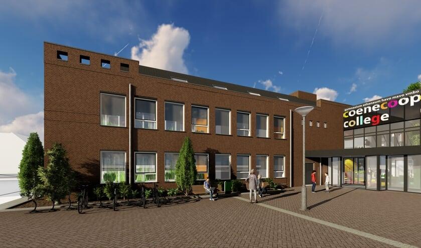 Het Coenecoop College zal bij de nieuwe school waarschijnlijk ook rekening moeten houden met 'het nieuwe normaal'.