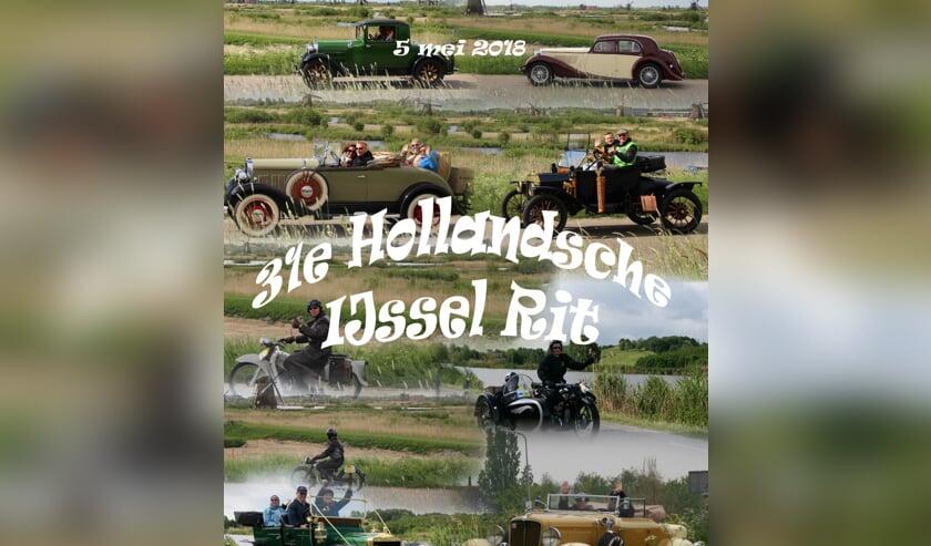 Circa honderd klassieke en antieke automobielen en motorfietsen rijden zaterdag 5 mei door het Groene Hart.