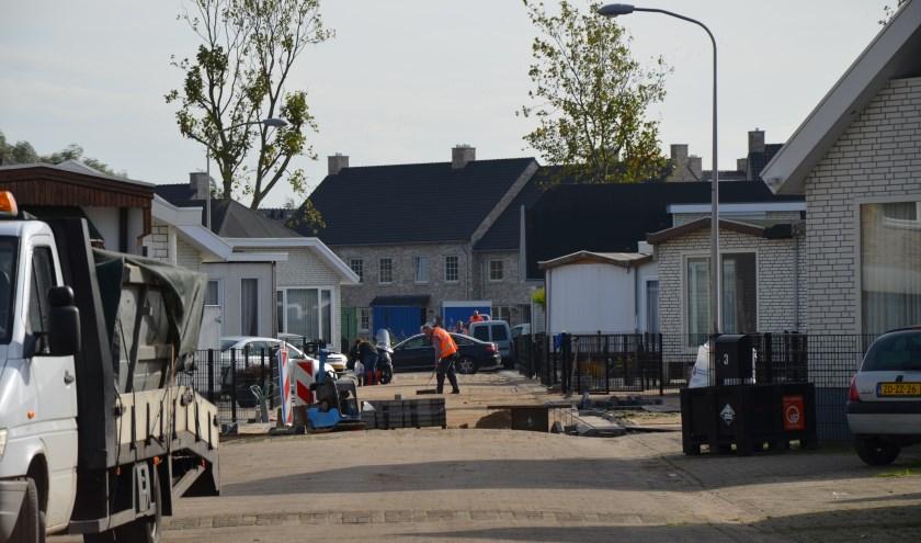De herbestrating aan de Pater Jornaweg is weer hervat.