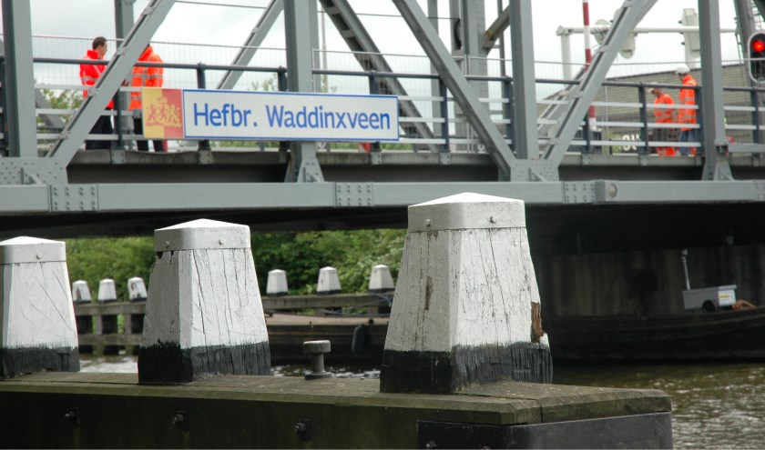 Hefbrug Waddinxveen. (foto: archief HvH)
