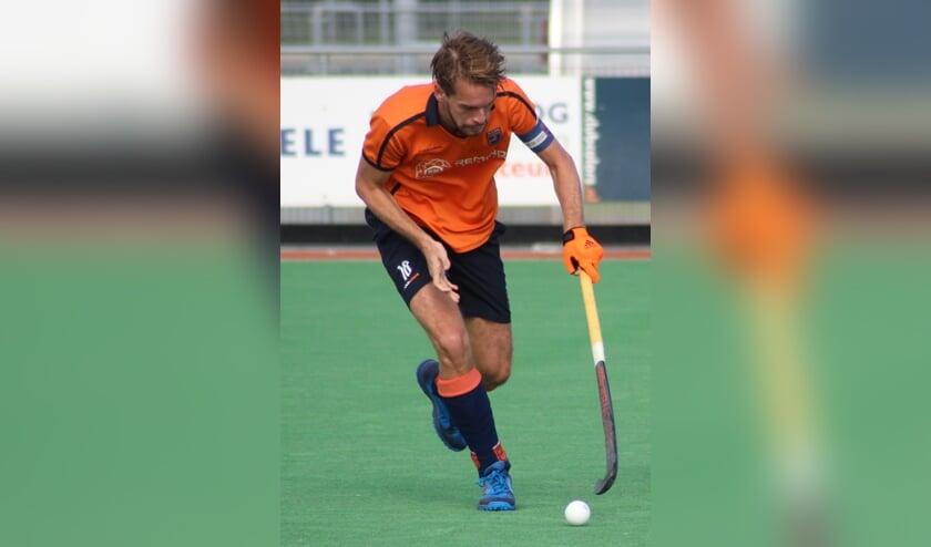 Vincent Martens zette De IJssel op 2-0 voorsprong (foto: archief HvH)