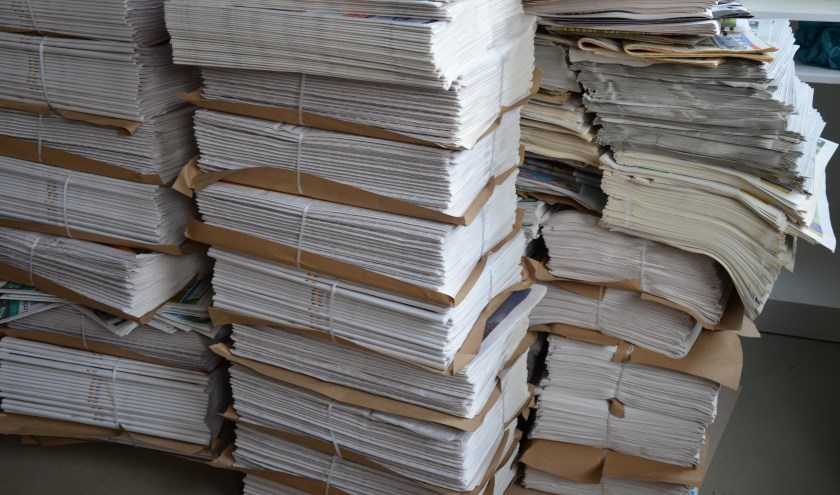 Oud papier levert weinig meer op. (foto: Nicole Lamers/tekst: Erik van Leeuwen)